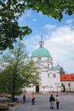 Церковь в новом городке Варшавы стоковая фотография
