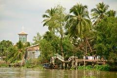 Церковь в перепаде Меконга, Вьетнам Стоковое Изображение RF