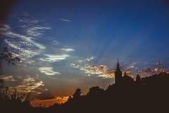 Церковь в правильной позиции Стоковое Фото