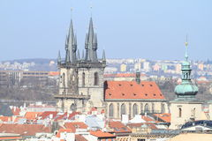 Церковь в Праге Стоковое Изображение