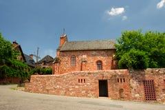 Церковь в румян la Collonges стоковое фото rf