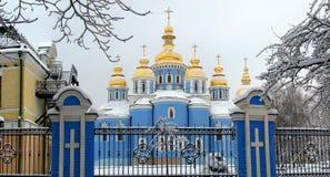 Церковь в снежке Стоковые Изображения
