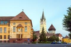 Церковь в средствах, Румыния St Margaret Стоковые Изображения RF