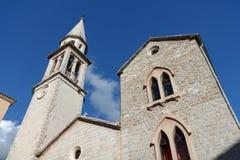 Церковь в старом городке Budva, Черногории Стоковое Изображение RF
