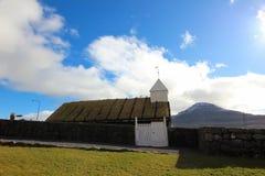 Церковь в Фарерских островах Стоковые Изображения