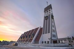 Церковь в Хаммерфесте стоковые изображения