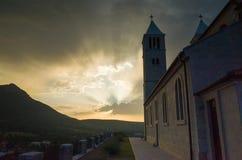 Церковь в цетине Хорватии Стоковая Фотография