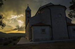 Церковь в цетине Хорватии Стоковое Изображение RF