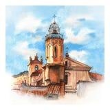 Церковь в AIX-en-Провансали, Франции стоковая фотография