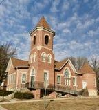 Церковь в Dexter, Айове стоковая фотография rf