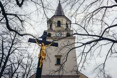 Церковь в Frydlant nad Ostravici стоковые фото
