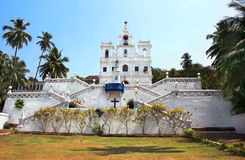 Церковь в Goa, Индия Ora Pronobis стоковые фотографии rf