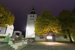 Церковь в herborn Германии в вечере стоковая фотография