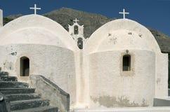 Церковь в Kamari. Стоковая Фотография