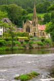 Церковь в Llangollen, Великобритании Стоковые Изображения RF