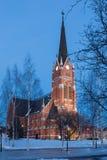 Церковь в Lulea Стоковое фото RF