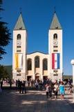 Церковь в Medjugorje Герцеговине Стоковое Фото
