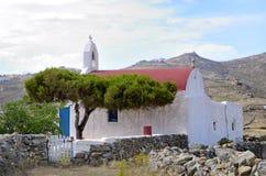 Церковь в Mikonos стоковая фотография rf