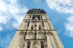Церковь в Munster, Германии стоковое изображение rf