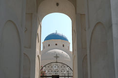 Церковь в Perissa. Стоковое Изображение RF