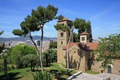 Церковь в Poble Espanyol Стоковое Фото