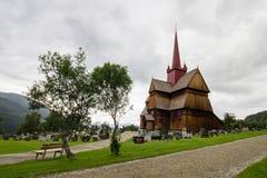 Церковь в Ringebu в южной Норвегии Стоковая Фотография