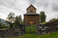 Церковь в Ringebu в южной Норвегии Стоковое Фото