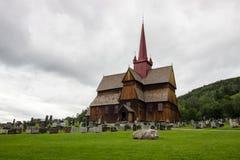 Церковь в Ringebu в южной Норвегии Стоковое Изображение RF