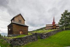 Церковь в Ringebu в южной Норвегии Стоковые Изображения