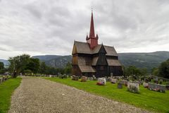 Церковь в Ringebu в южной Норвегии Стоковые Фотографии RF