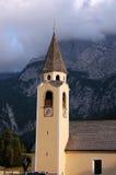 Церковь в Sappada - Беллуно Италии стоковое изображение rf