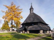 Церковь в Tvrdosin, ориентир ориентире ЮНЕСКО Стоковое Изображение RF