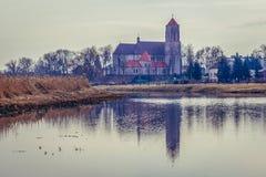 Церковь в Wieliszew стоковые фотографии rf