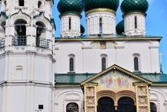 Церковь в Yaroslavl, малом русском городе Стоковая Фотография