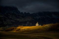 Церковь горы Стоковая Фотография