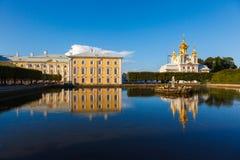 Церковь дворца святой Питера и Паыля в Peterhof Стоковая Фотография