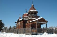 церковь деревянная Стоковое Фото
