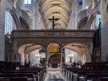 Церковь держателя, Париж ` s St Stephen стоковая фотография