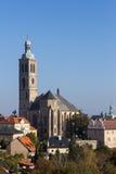 Церковь Джейкоба Святого в Kutna Hora, чехословакское repulic Стоковое Изображение
