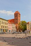 Церковь Джейкоба Святого городка Торуна, Польши стоковые фотографии rf