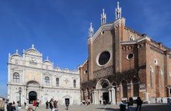 Церковь Джона и Пол в Венеции, Италии стоковые изображения rf