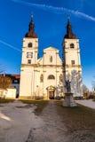Церковь девственницы Mary Uhersky Brod, чехии Стоковое Изображение RF