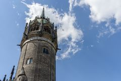 Церковь замка в Wittenberg Стоковое Фото