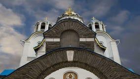 Церковь защиты матери бога на Yasenevo, Москве, России акции видеоматериалы