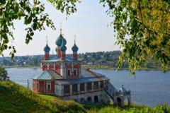Церковь значка матери бога Казани Tutaev стоковое фото rf