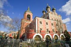Церковь значка Tikhvin матери бога, Москвы Стоковые Изображения