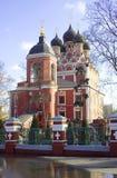 Церковь значка Tikhvin матери бога, Москвы Стоковое Изображение
