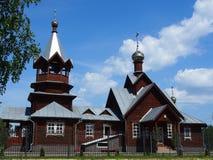 Церковь значка Tikhvin матери бога стоковые изображения