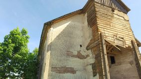 церковь здания старая руины съемка steadicam Ровное движение акции видеоматериалы