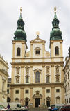 Церковь иезуита, вена стоковое фото rf